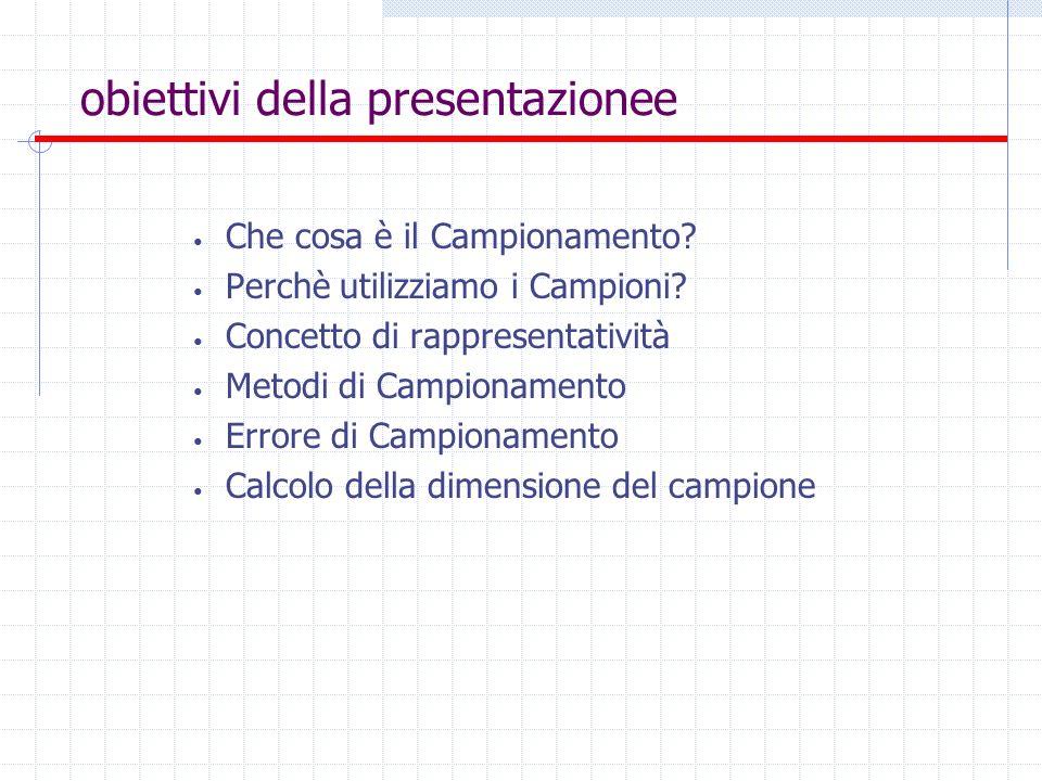 obiettivi della presentazionee