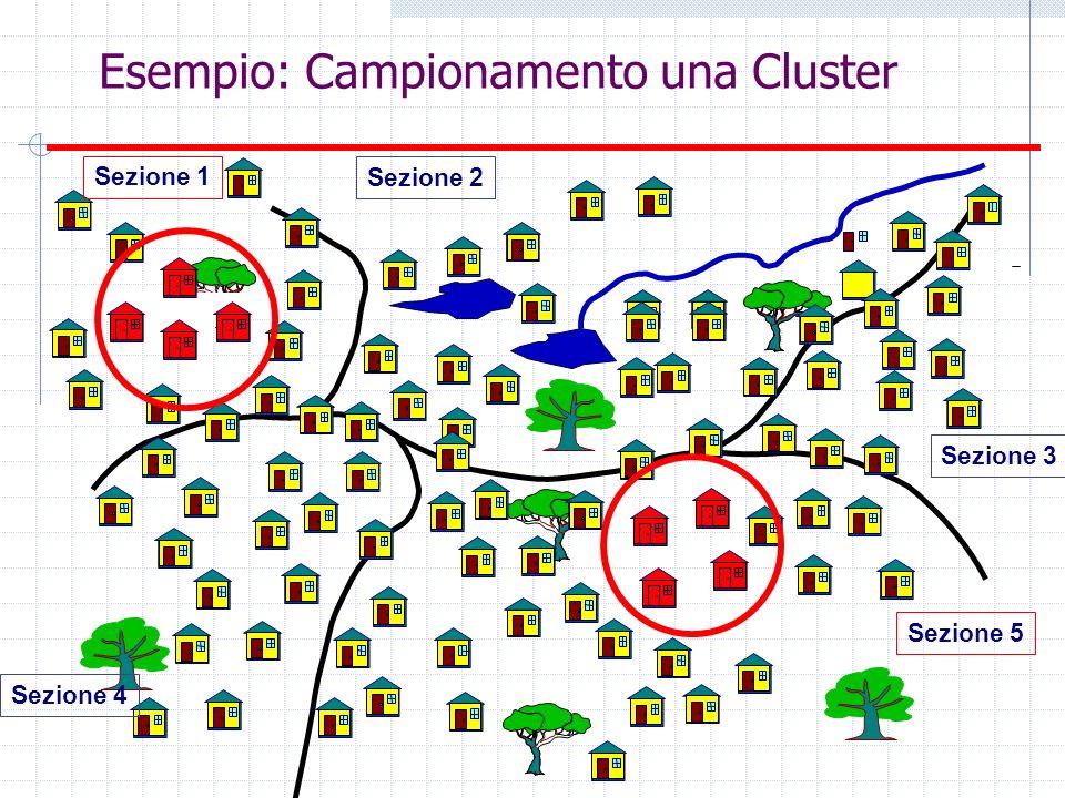 Esempio: Campionamento una Cluster