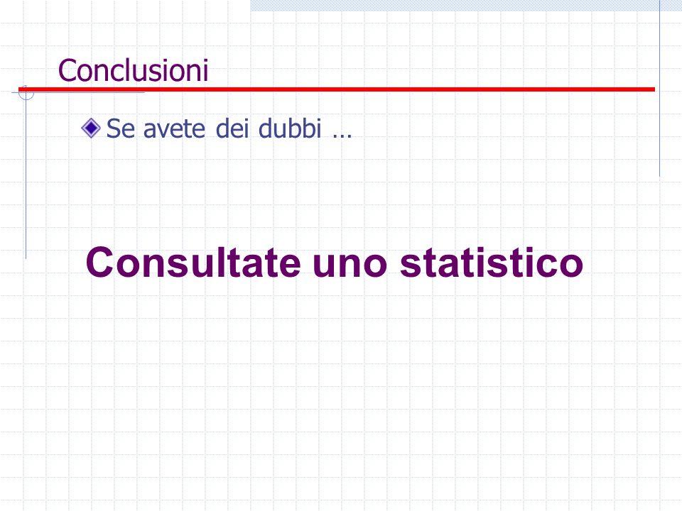 Consultate uno statistico