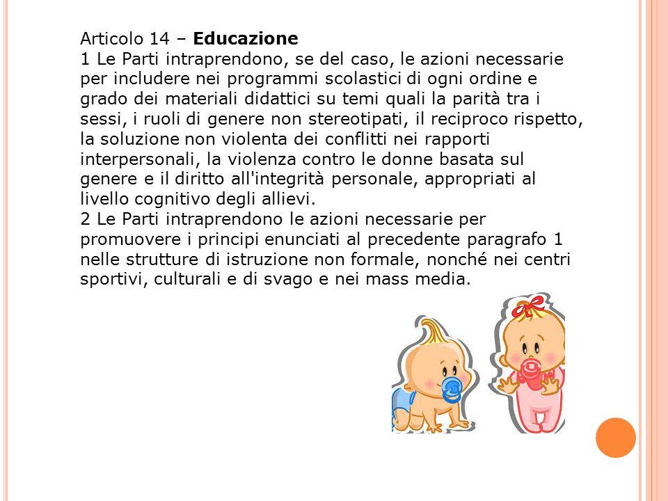 Articolo 14 – Educazione