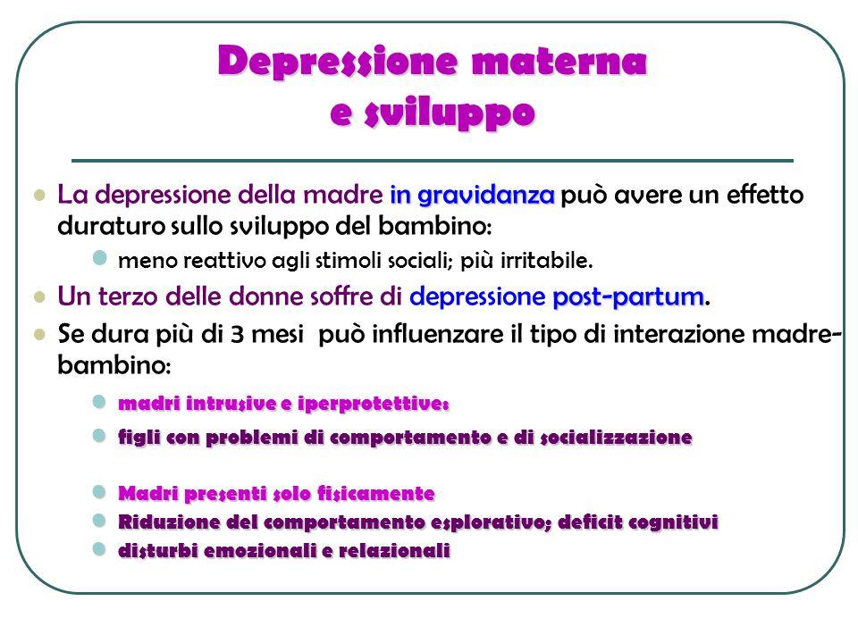 Depressione materna e sviluppo