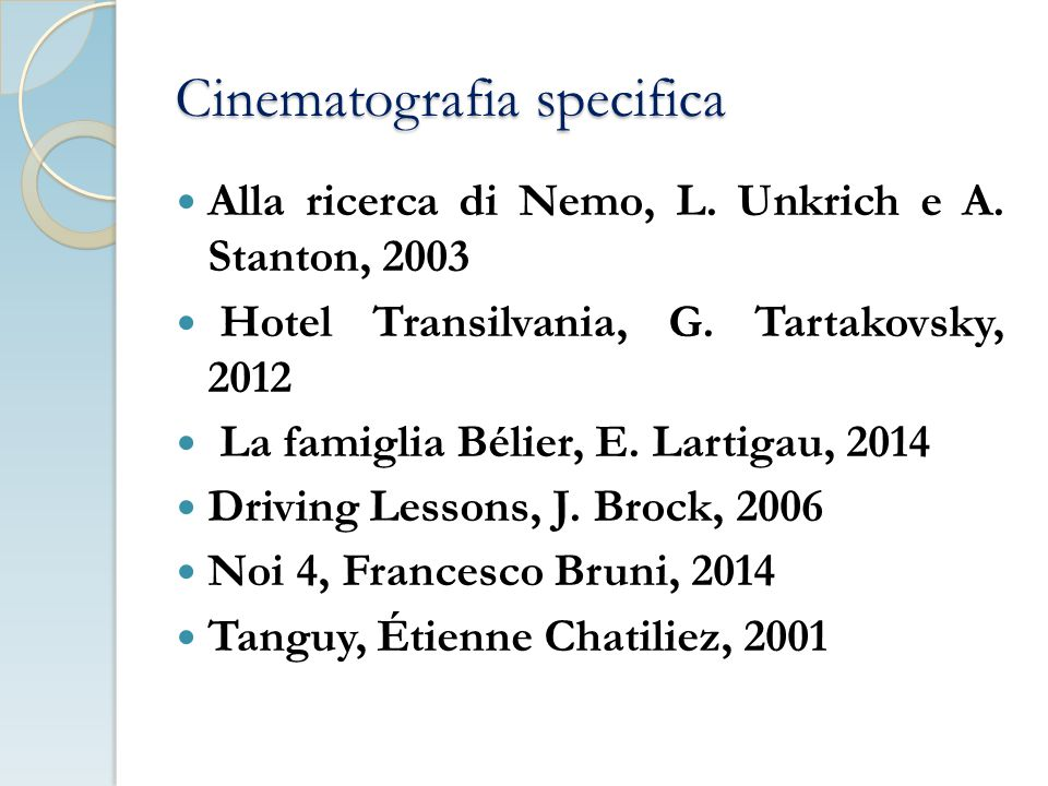 Cinematografia specifica