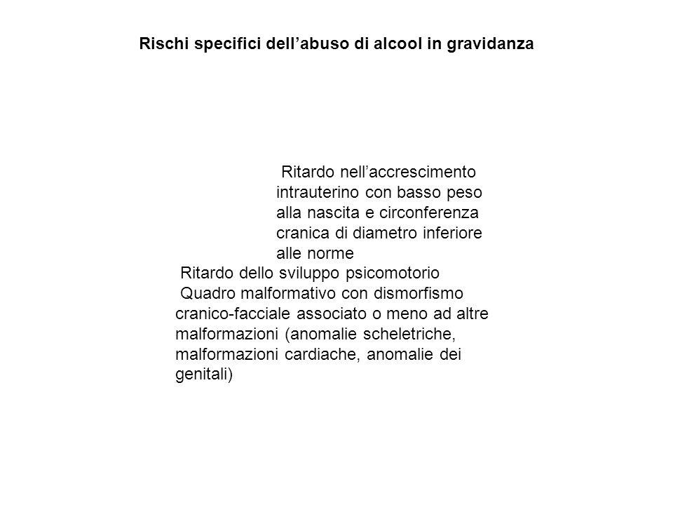 Rischi specifici dell'abuso di alcool in gravidanza