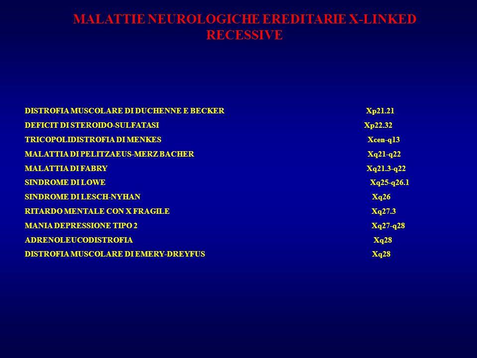 MALATTIE NEUROLOGICHE EREDITARIE X-LINKED RECESSIVE