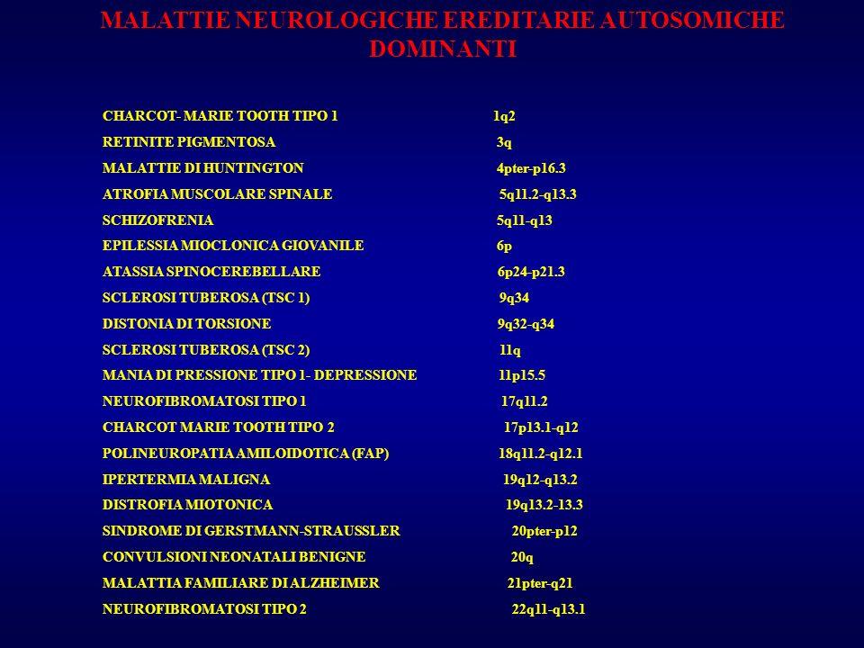 MALATTIE NEUROLOGICHE EREDITARIE AUTOSOMICHE DOMINANTI