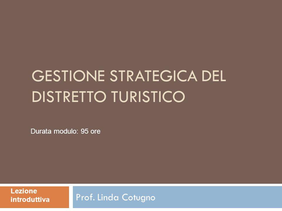 GESTIONE STRATEGICA DEL DISTRETTO TURISTICO