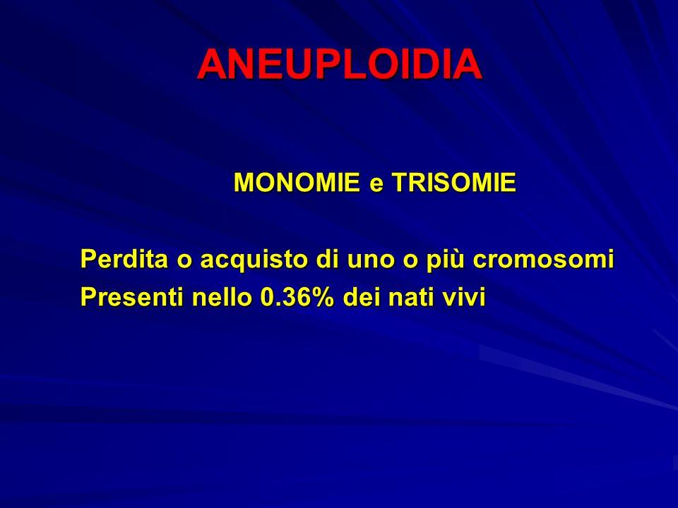ANEUPLOIDIA MONOMIE e TRISOMIE