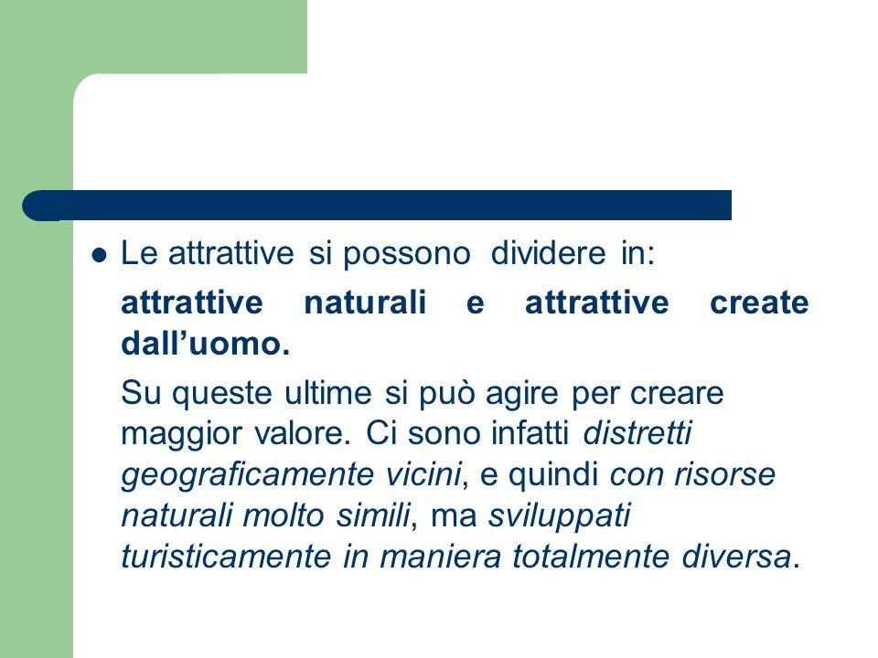 Le attrattive si possono dividere in: