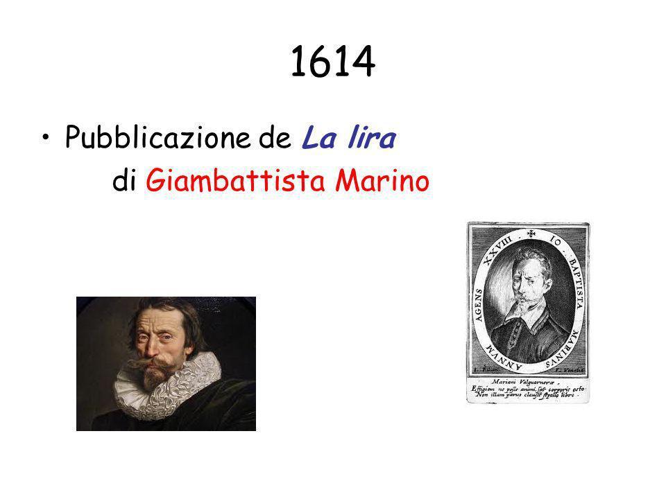 1614 Pubblicazione de La lira di Giambattista Marino