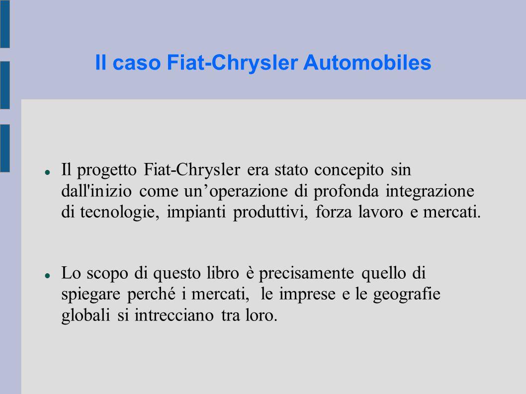 Il caso Fiat-Chrysler Automobiles