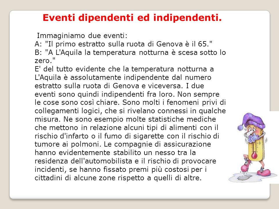 Eventi dipendenti ed indipendenti.