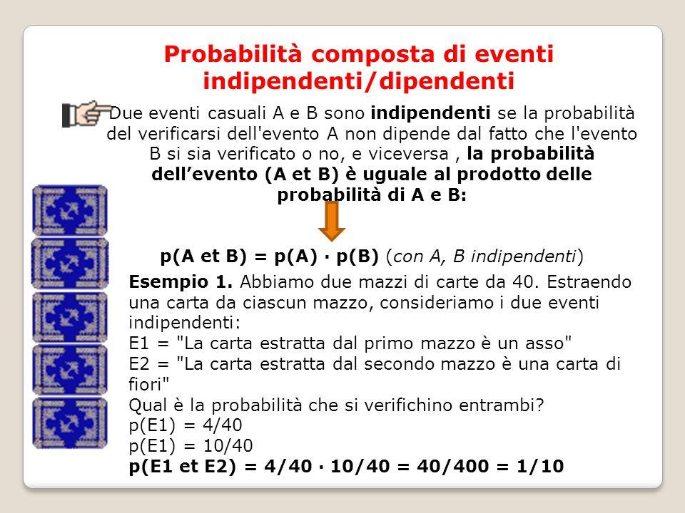 Probabilità composta di eventi indipendenti/dipendenti