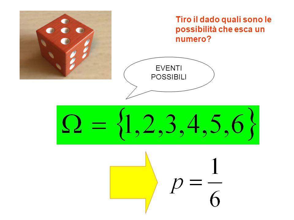 Tiro il dado quali sono le possibilità che esca un numero