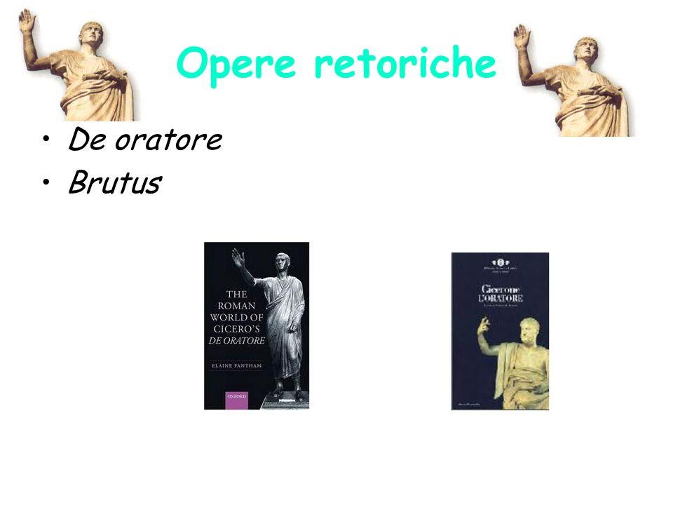 Opere retoriche De oratore Brutus
