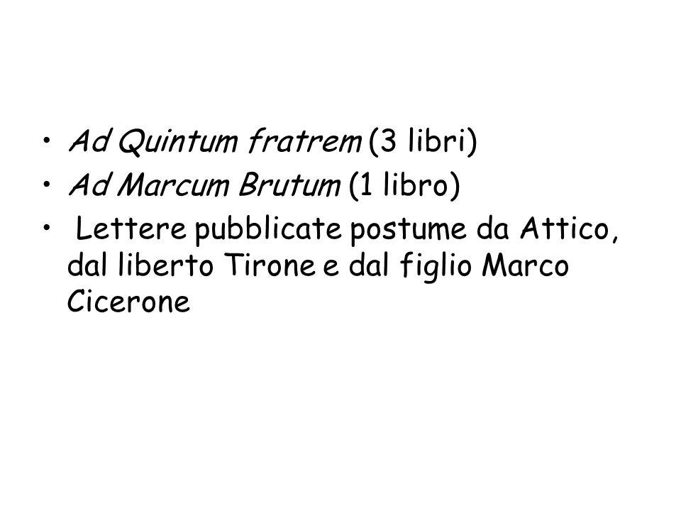 Ad Quintum fratrem (3 libri)