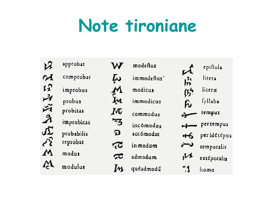 Note tironiane