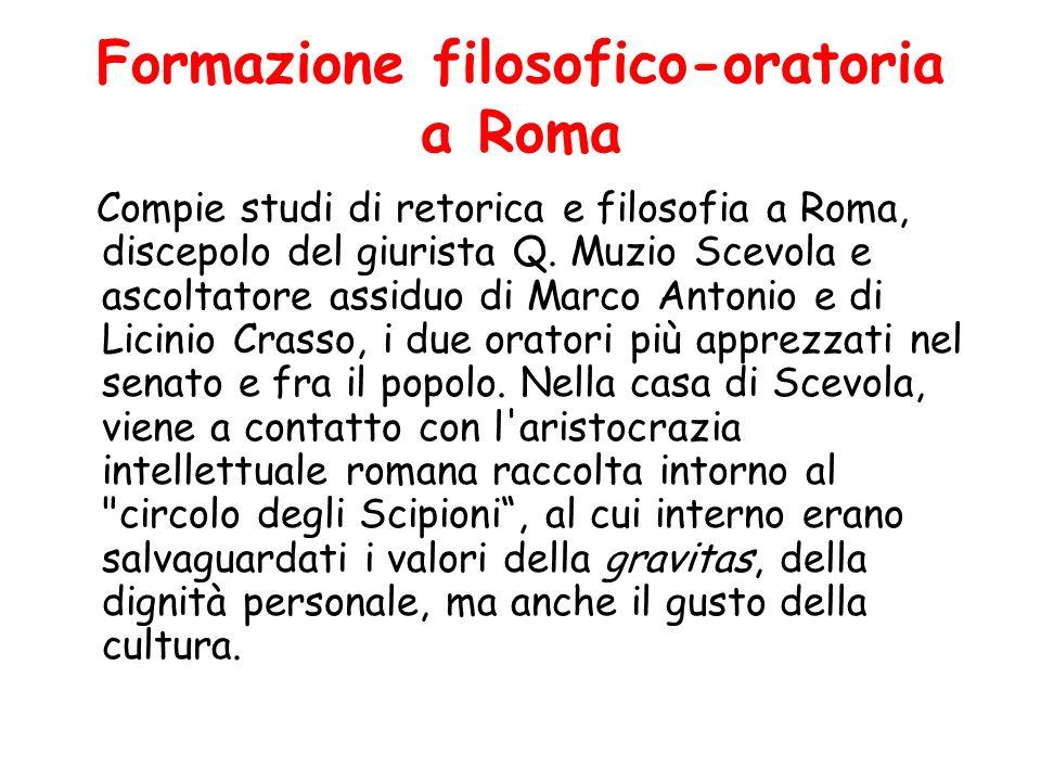 Formazione filosofico-oratoria a Roma