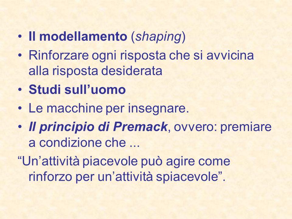 Il modellamento (shaping)