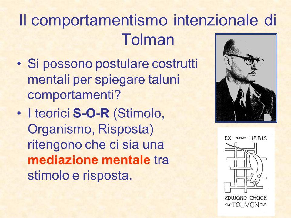 Il comportamentismo intenzionale di Tolman