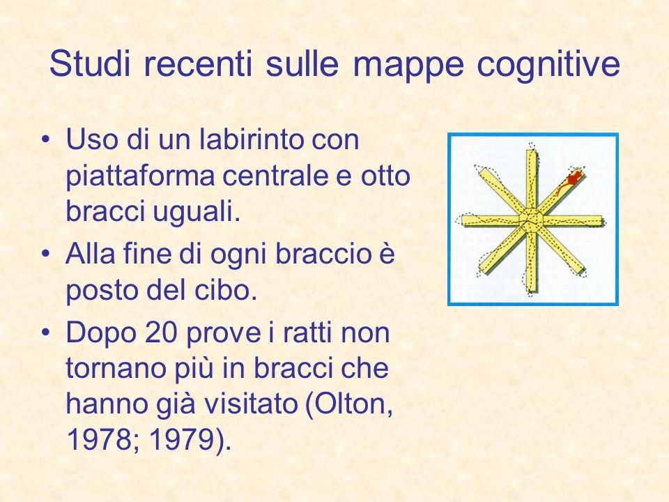 Studi recenti sulle mappe cognitive