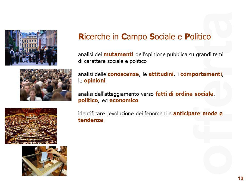 offerta Ricerche in Campo Sociale e Politico