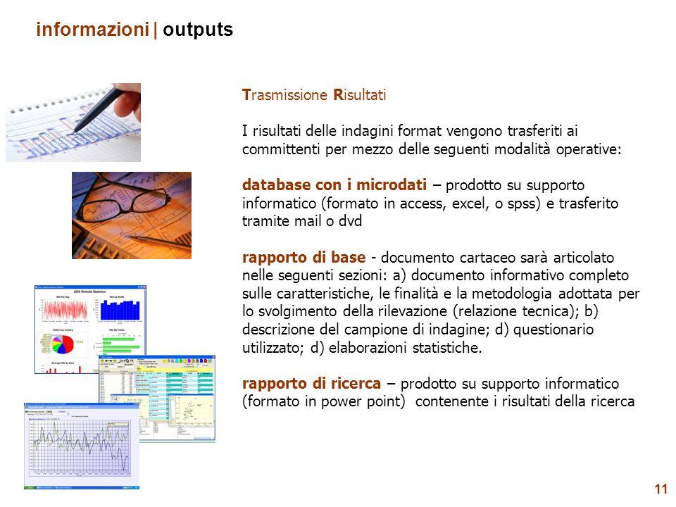 informazioni | outputs