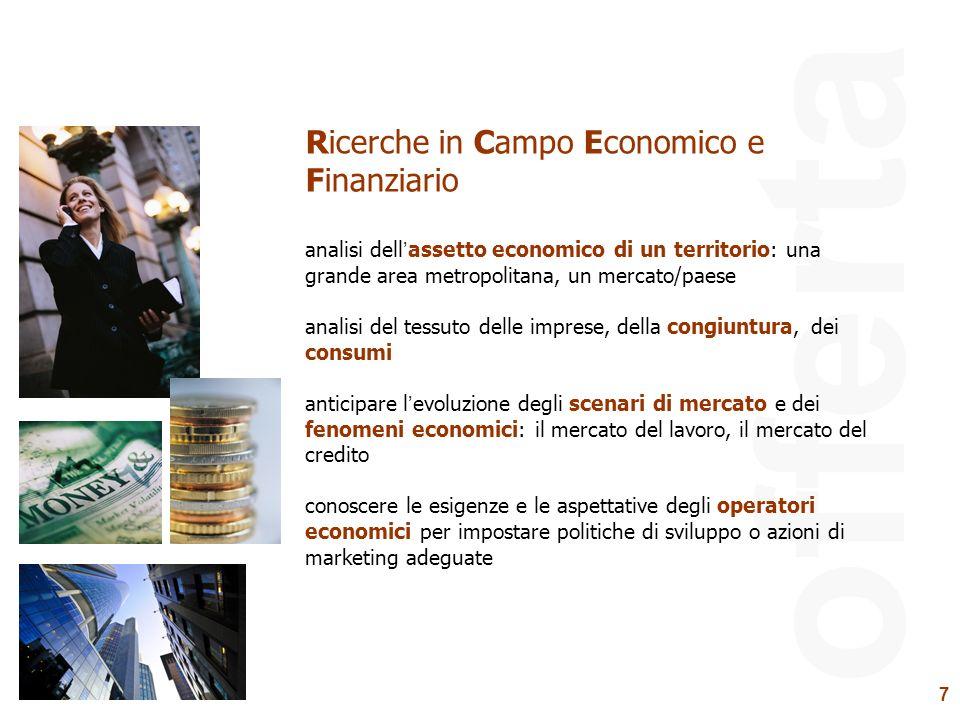 offerta Ricerche in Campo Economico e Finanziario