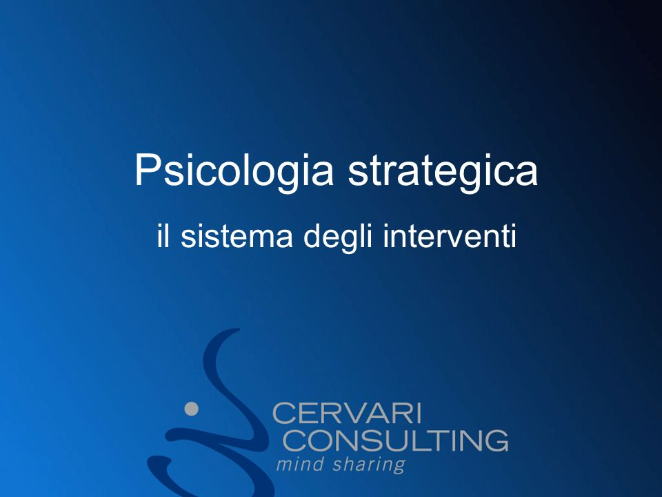 Psicologia strategica