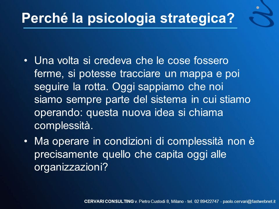 Perché la psicologia strategica