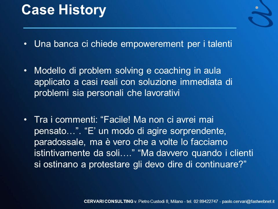 Case History Una banca ci chiede empowerement per i talenti