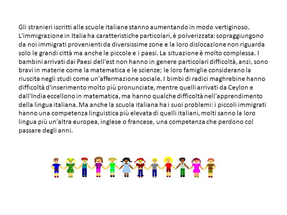 Gli stranieri iscritti alle scuole italiane stanno aumentando in modo vertiginoso.