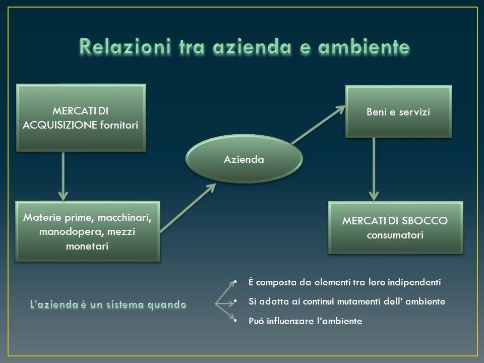 Relazioni tra azienda e ambiente