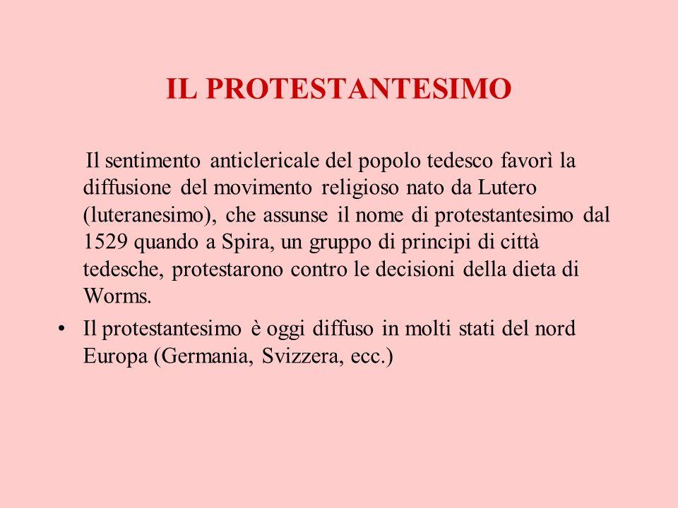IL PROTESTANTESIMO