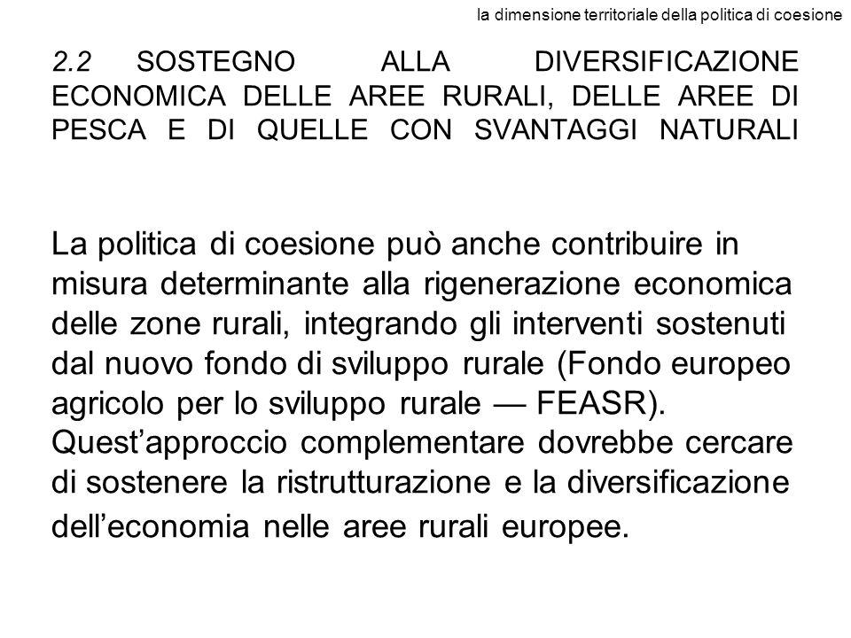 la dimensione territoriale della politica di coesione
