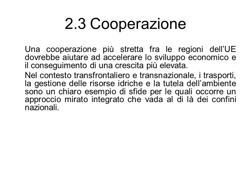 2.3 Cooperazione