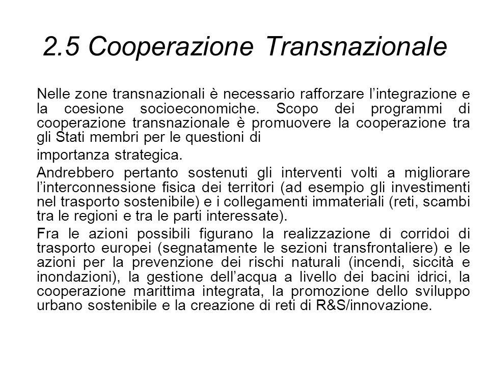 2.5 Cooperazione Transnazionale