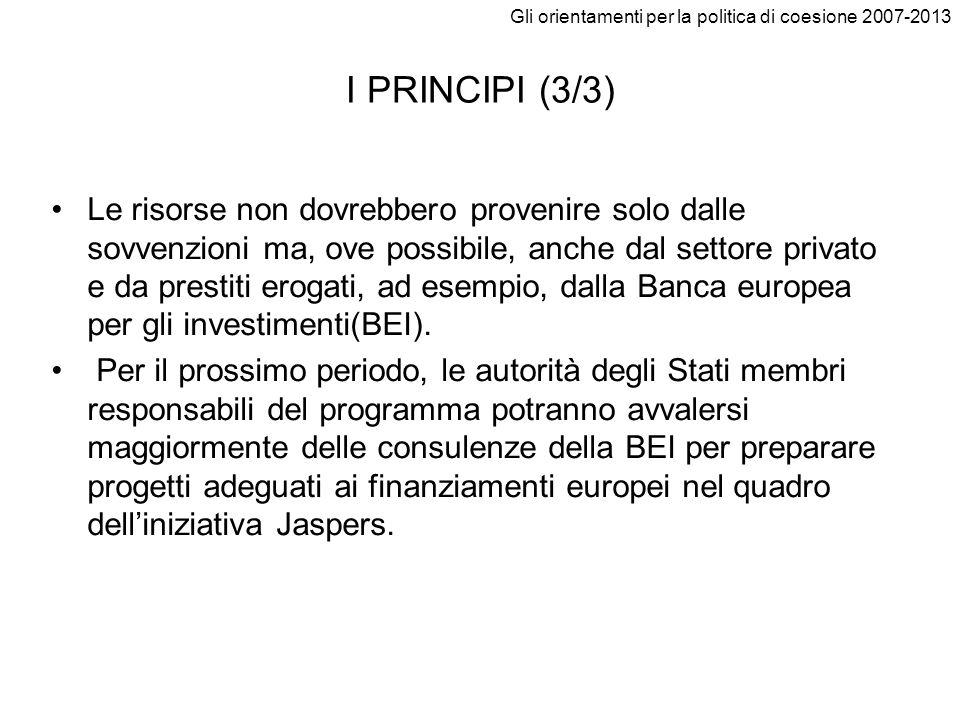 Gli orientamenti per la politica di coesione 2007-2013