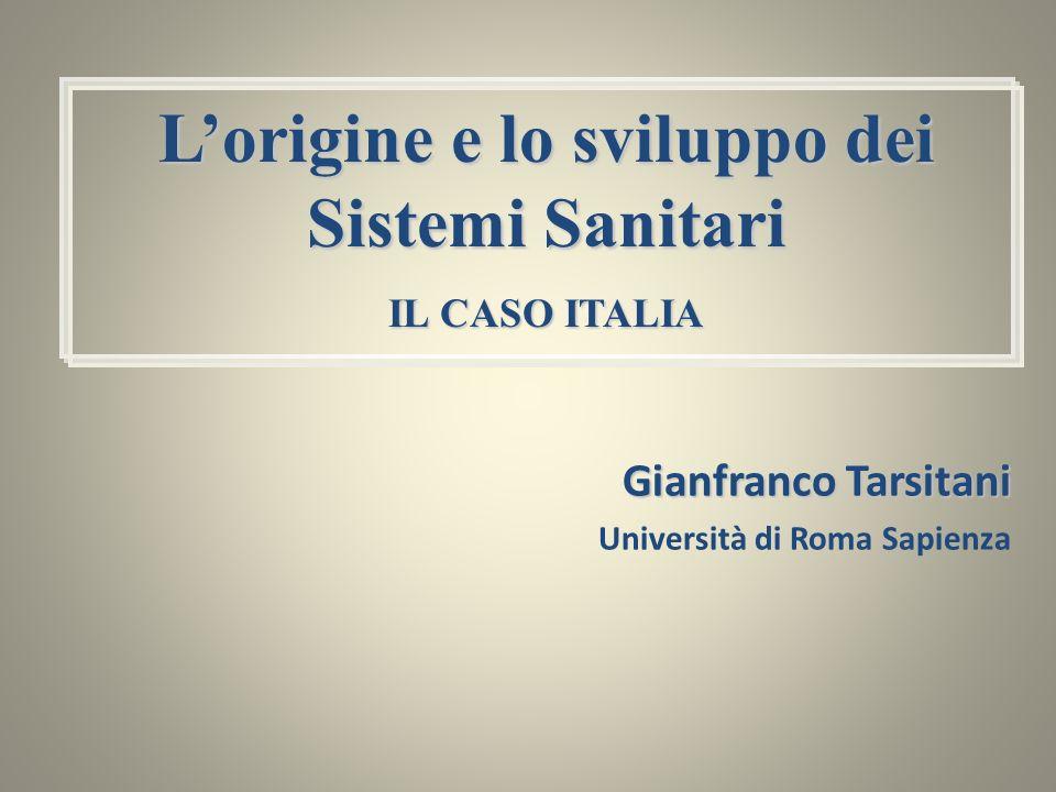 Gianfranco Tarsitani Università di Roma Sapienza