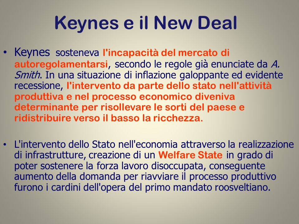 Keynes e il New Deal
