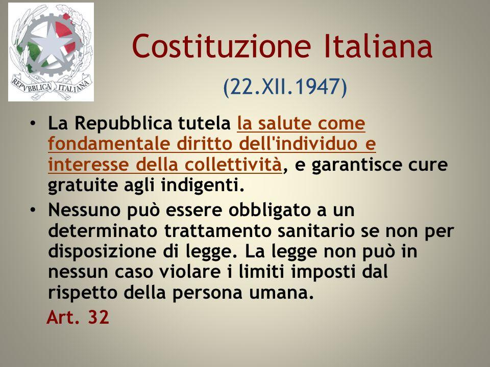 Costituzione Italiana (22.XII.1947)