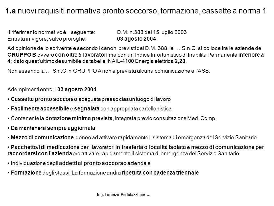1.a nuovi requisiti normativa pronto soccorso, formazione, cassette a norma 1