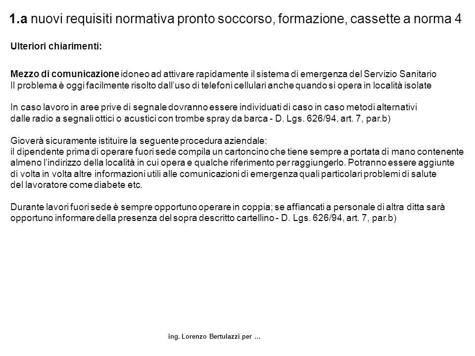 1.a nuovi requisiti normativa pronto soccorso, formazione, cassette a norma 4
