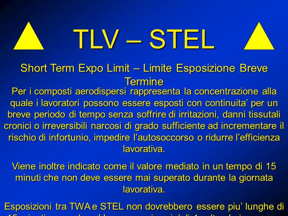 Short Term Expo Limit – Limite Esposizione Breve Termine