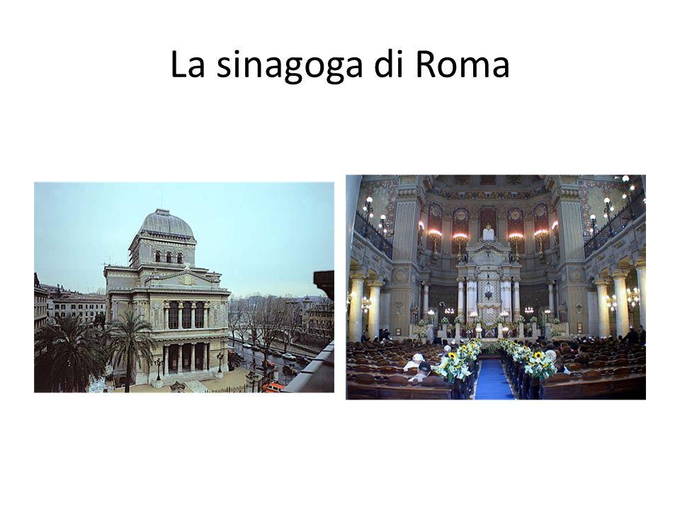 La sinagoga di Roma 16.000 membri della comunita israelitica