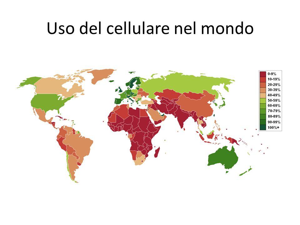 Uso del cellulare nel mondo