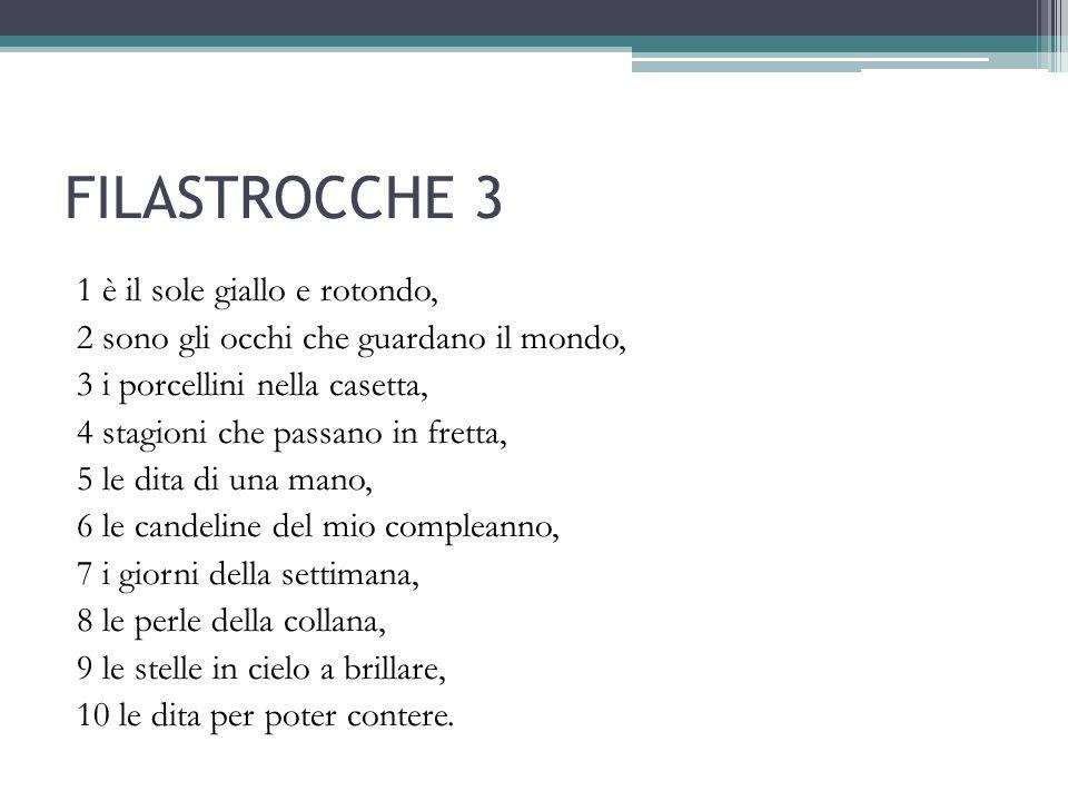 FILASTROCCHE 3