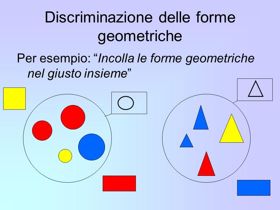 Discriminazione delle forme geometriche