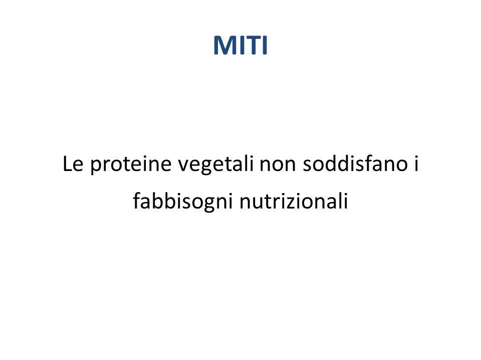 MITI Le proteine vegetali non soddisfano i fabbisogni nutrizionali