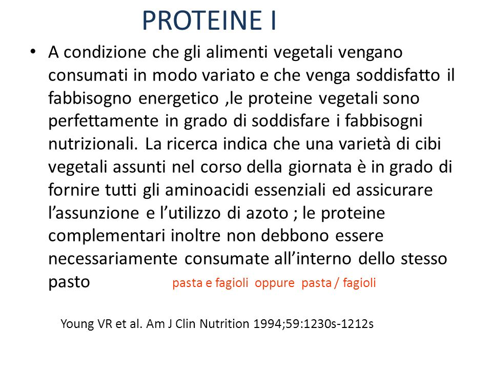 PROTEINE I