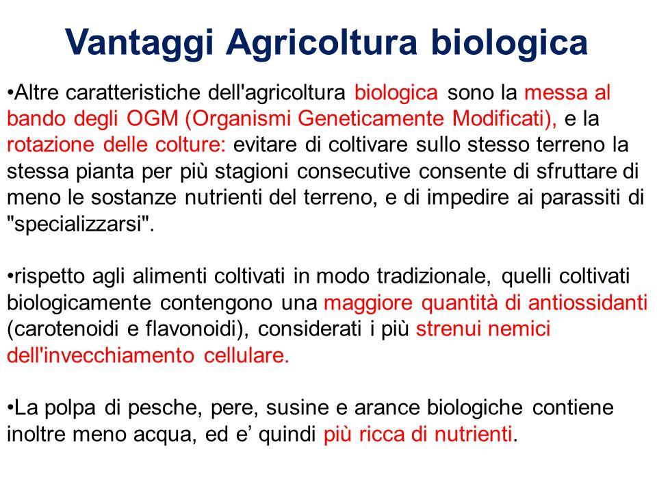 Vantaggi Agricoltura biologica